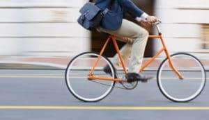 Bike speeding through the streets